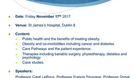 Obesity Care Conference:  Creating solutions by understanding Obesity: November 17th, 2017