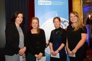 Winners of the poster presentations at the IrSPEN Conference 2015 were (from left): Sharon Kennelly, Megan Merrick (with Tara Rafferty), Carmel O'Hanlon and Aoibheann McMorrow