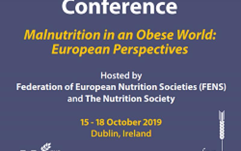 Federation of European Nutrition Societies (FENS) 2019, 15-18 October