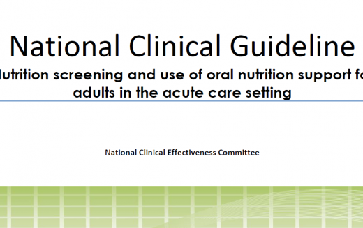 WE NEED YOUR FEEDBACK: Consultation on National Clinical Guideline Nutrition Screening and use of oral nutrition support for adults in the acute care setting