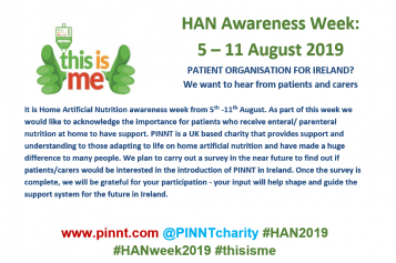 HAN Awareness Week: 5-11 August 2019 Patient Organisation for Ireland?