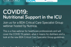 COVID RESOURCES WEBINAR: COVID-19 – Nutritional Support in the ICU