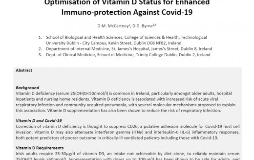 VITAMIN D CAN HELP BUILD RESISTANCE TO RESPIRATORY INFECTIONS, INCLUDING COVID-19