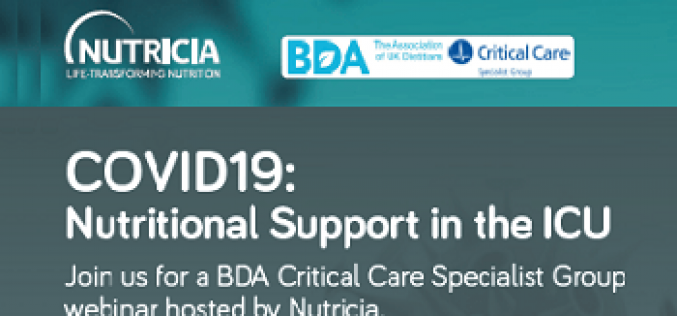 LIVE WEBINAR April 6th at 6.30pm: Nutritional Support in the ICU