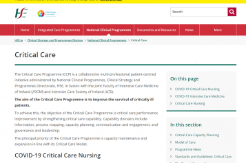 Consultation on the Critical Care Programme's'Intensive care nutrition support guideline algorithm for adults'